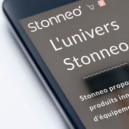 homepage smartphone Site Stonneo